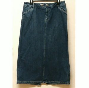 Eddie Bauer Sz 12 Denim Maxi Skirt